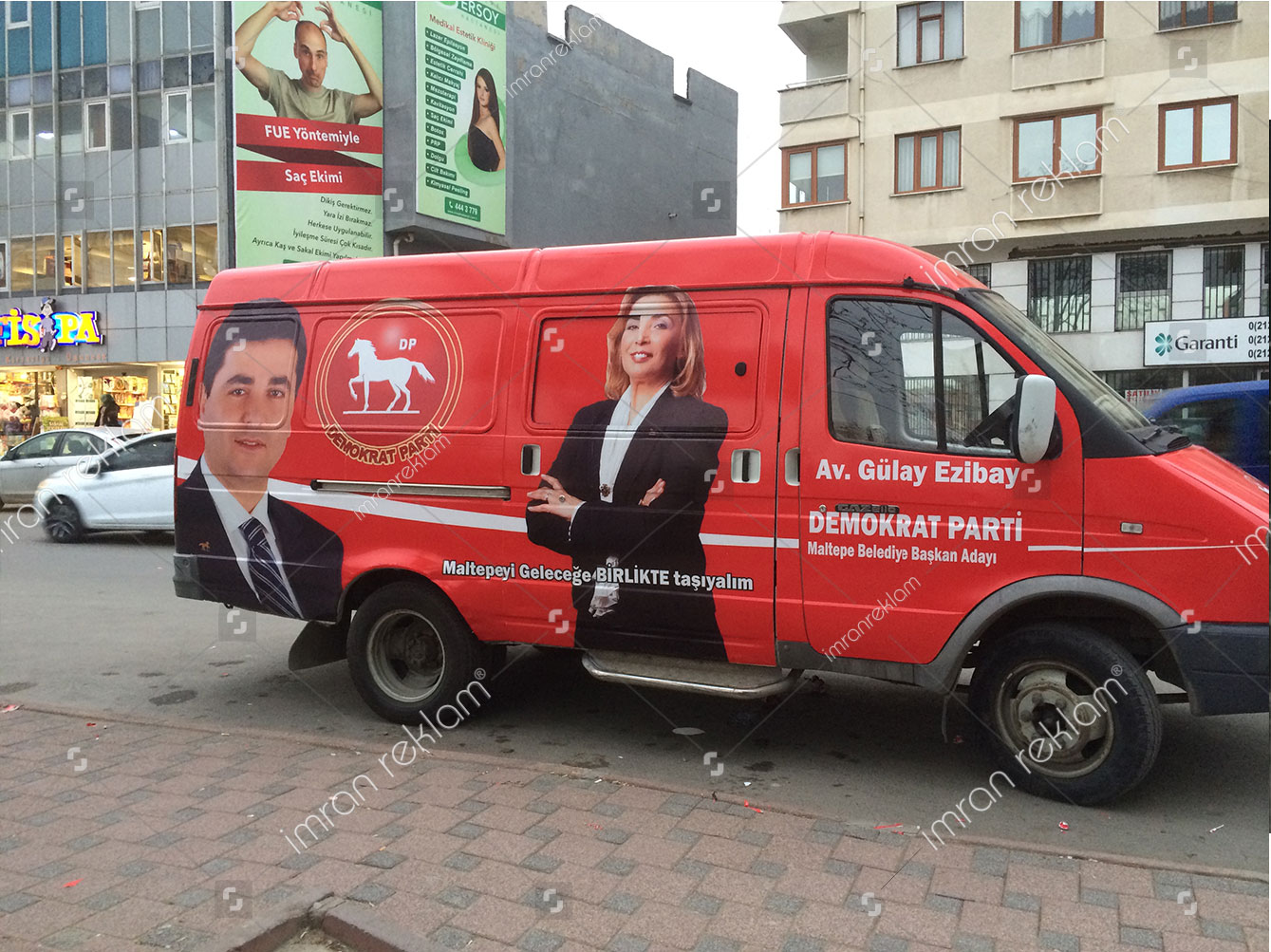 demokrat-parti-arac-reklam-kaplama